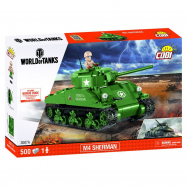 Stavebnice WORLD OF TANKS Sherman A1/Firefly 2v1 450 k, 1 f