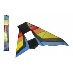 Drak lietajúci nylon delta 183x81cm farebný v sáčku