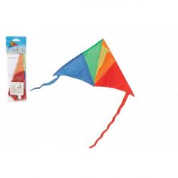 Drak lietajúci nylon delta 45x25cm farebný v sáčku