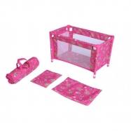 Postýlka pro panenky kov/plast v tašce rozkládací