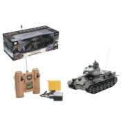 Tank RC plast 33cm T-34/85 27MHz na batérie + dobíjacie pack so zvukom a svetlom
