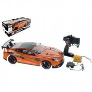Auto RC oranžové zrýchľujúce plast 40 cm 27MHz