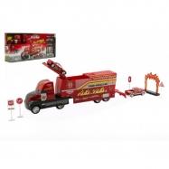 Auto Hasiči Truck nákladní s doplňky plast 30cm v krabici 42x19x8cm