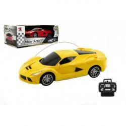 Auto RC športové plast 20cm na batérie asst 2 farby v krabici 26x10x14cm