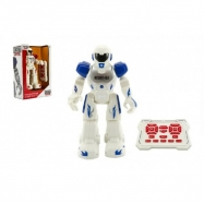 Robot chodiaci a tancujúci s ovládačom na batérie + USB kábel plast 25 cm