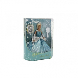 Bábika zimné princezná plast 28cm v krabici 27x33x8cm