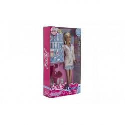 Bábika doktorka s doplnkami plast 28cm v krabici
