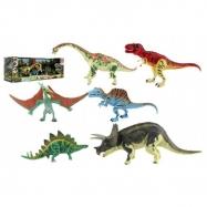 Sada Dinosaurus hýbajúce sa 6 ks plast