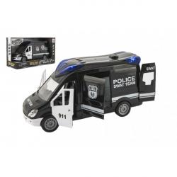Samochód policyjny klapka plastikowa 26cm na kole zamachowym na akumulatorze z dźwiękiem ze światłem