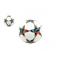 Lopta futbalový hviezdy šitý 22cm vel. 5 kože v sáčku