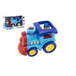 Mašinka plast so svetlom a zvukom na voľný chod v krabici 23,5x14,5x11,5cm