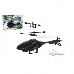Vrtulník na ovládání rukou použití USB plast 16cm