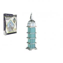 Stavebnica kov Big Ben hodiny 502 dielikov v krabici 26x37x6cm