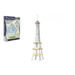 Stavebnica kov Eiffelova veža 407 dielikov v krabici 26x36x6cm