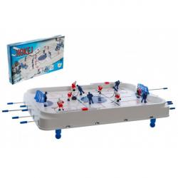 Hokej spoločenská hra 63x41cm plast / kov kovová tiahla v krabici