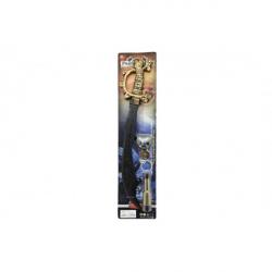 Meč s doplnkami plast 58 cm na karte