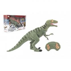 Dinosaurus chodiace IC velociraptor plast 50 cm na batérie so zvukom sa svetlom v krabici