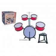 Bicí souprava/bubny plast 5ks s příslušenstvím v krabici 42 x 40 x 32 cm