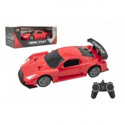 Auto RC šport plast 20cm červenej na batérie 27MHz v krabici 26x10x12cm