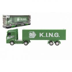 Ciężarówka z 30cm plastikowym pojemnikiem na akumulatorowym kole zamachowym ze światłem i dźwiękiem