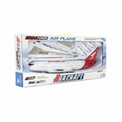 Letadlo plastové, 40 cm na setrvačník
