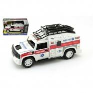 Auto ambulance plast 25 cm na setrvačník na baterie se zvukem a světlem