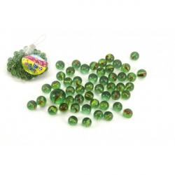 Guličky cvrnkací sklenené cca 50ks 1,5cm v sieťke
