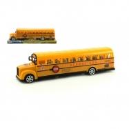 Autobus školní plast 30cm na setrvačník v krabici