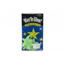 Hviezdy svietiace v tme 5,5cm plast na karte 12x20cm