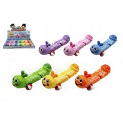 Červík na kľúčik plast 12cm asst mix farieb 12ks v boxe