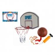 Basketbalový kôš + loptička s pumpičkou kov 61 cm