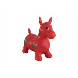 Hopsadlo kôň skákacie gumový červený 49x43x28cm v sáčku