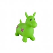 Hopsadlo kůň skákací gumový zelený 49x43x28cm v sáčku