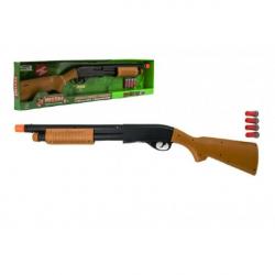 Pistole/Brokovnice lovecká plast 76cm na baterie se zvukem v krabici