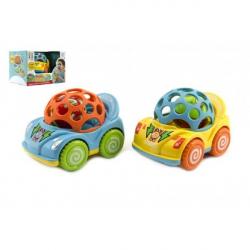 Auto s hrkálkou plast 10cm asst 2 farby v krabičke 18x12x14cm 12m +