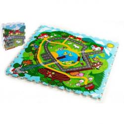 Penové puzzle Mesto Moje prvé zvieratká 30x30x1,2cm 9ks MPZ