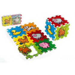 Penové puzzle Moja prvá zvieratka 15x15x1,2cm 6ks MPZ