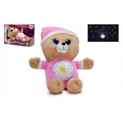 Medvedík Uspávačik ružový plyš 32 cm