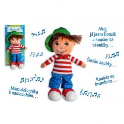 Panenka kluk Honzík hadrový plyš 30 cm česky mluvící na kartě
