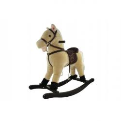 Kôň hojdacia béžový plyš výška 71 cm
