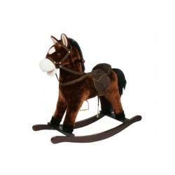 Kůň houpací hnědý plyš výška 71 cm