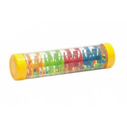 Guličkový dážď / hrkálka farebné plast 20cm hlavolam v krabičke 21x8,5x8,5cm 12m +
