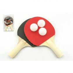 Zestaw tenisa stołowego 2 nietoperze + 3 piłki na karcie 18 x 29 cm