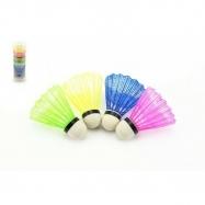 Loptička na badminton farebný 5ks v tube 7x19x7cm