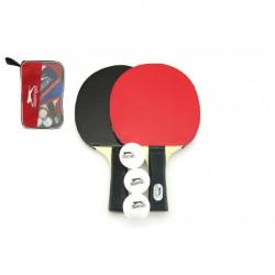 Sada stolní tenis 2 pálky + 3 míčky v tašce 26x17cm