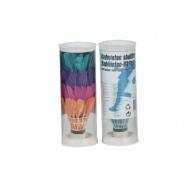 Míčky/Košíčky na badminton péřové barevné 4ks v tubě 6x18x6cm
