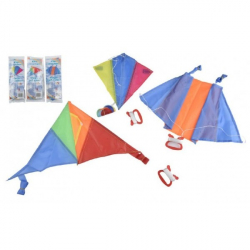 Drak lietajúce nylon 45x25cm / 25x28cm / 46x28cm farebný v sáčku 36ks v boxe