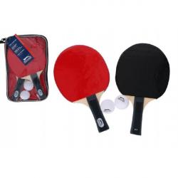 Sada stolný tenis 2 pálky + 2 loptičky v plastovej taške 16x26x3cm