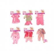 Oblečky / Šaty pre bábiky veľkosti 30-45cm asst v sáčku 25x40cm