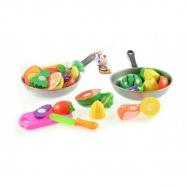 Krájecí ovoce + pánev s nádobím plast 30 cm asst